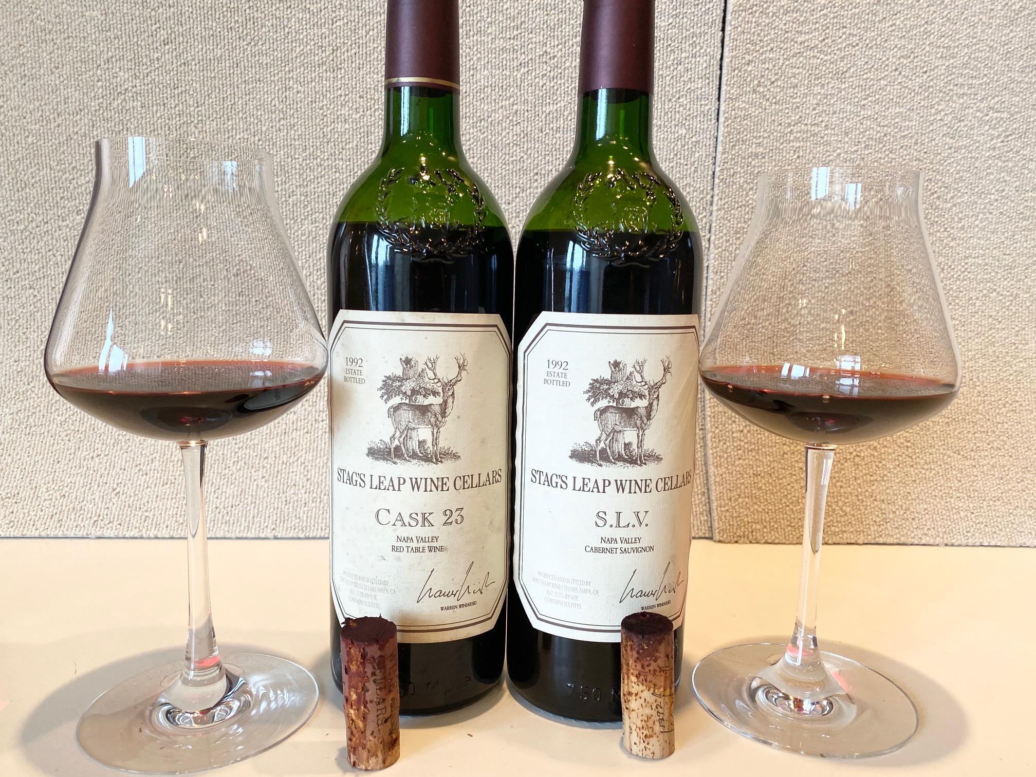 スタッグス・リープ・ワイン・セラーズ カベルネ・ソーヴィニヨン1992(Stag's Leap Wine Cellars Cabernet Sauvignon) S.L.VとCASK 23の飲み比べ