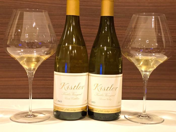 2種類のKistler Vineyard Chardonnay飲み比べ