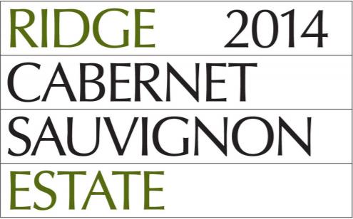 CABERNET SAUVIGNON ESTATE 2014