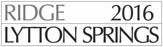 LYTTON SPRINGS 2016