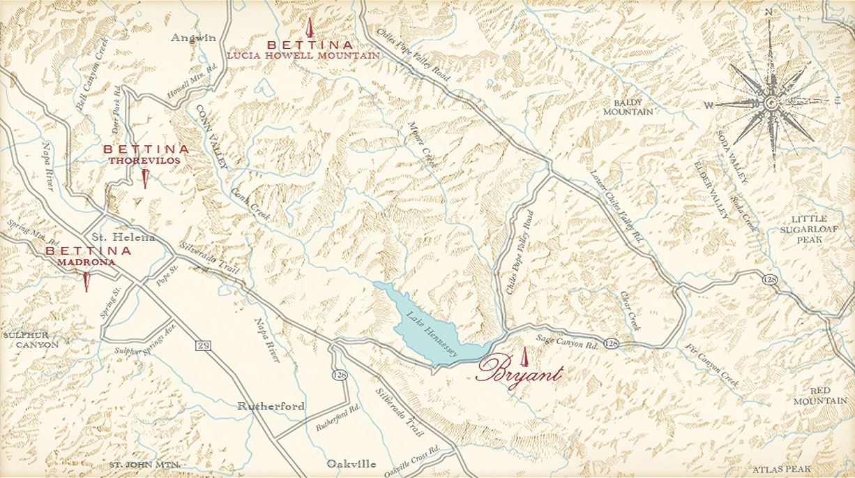 Bryant Family Vineyard Map
