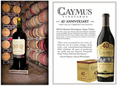 CAYMUS VINEYARDS 570l bottle,Caymus Vineyards 40th Label