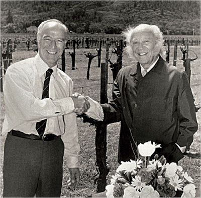 Robert Mondavi and Baron Philippe de Rothschild