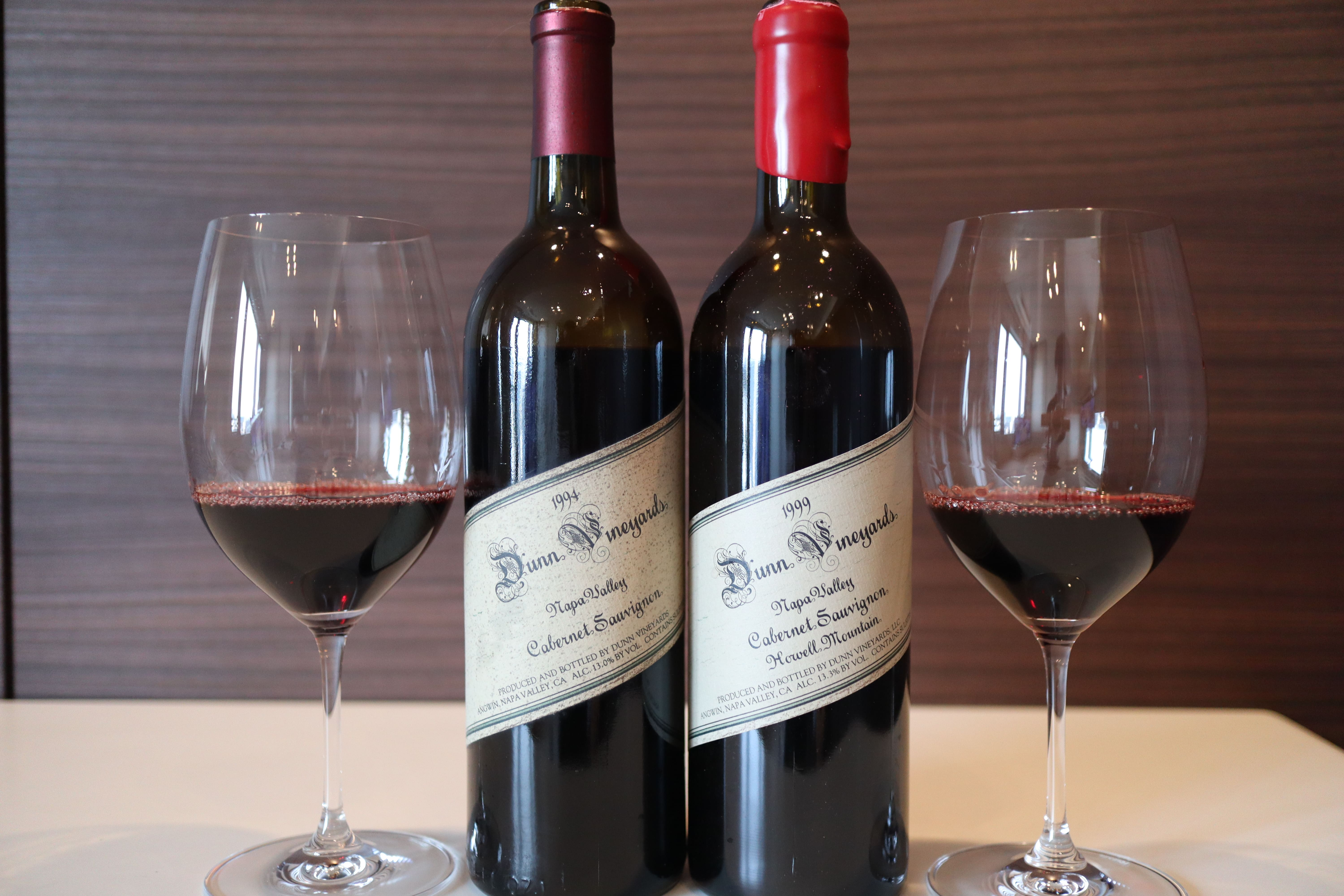 Dunn Cabernet Sauvignon Howell Mountain 1999 vs Napa Valley 1994