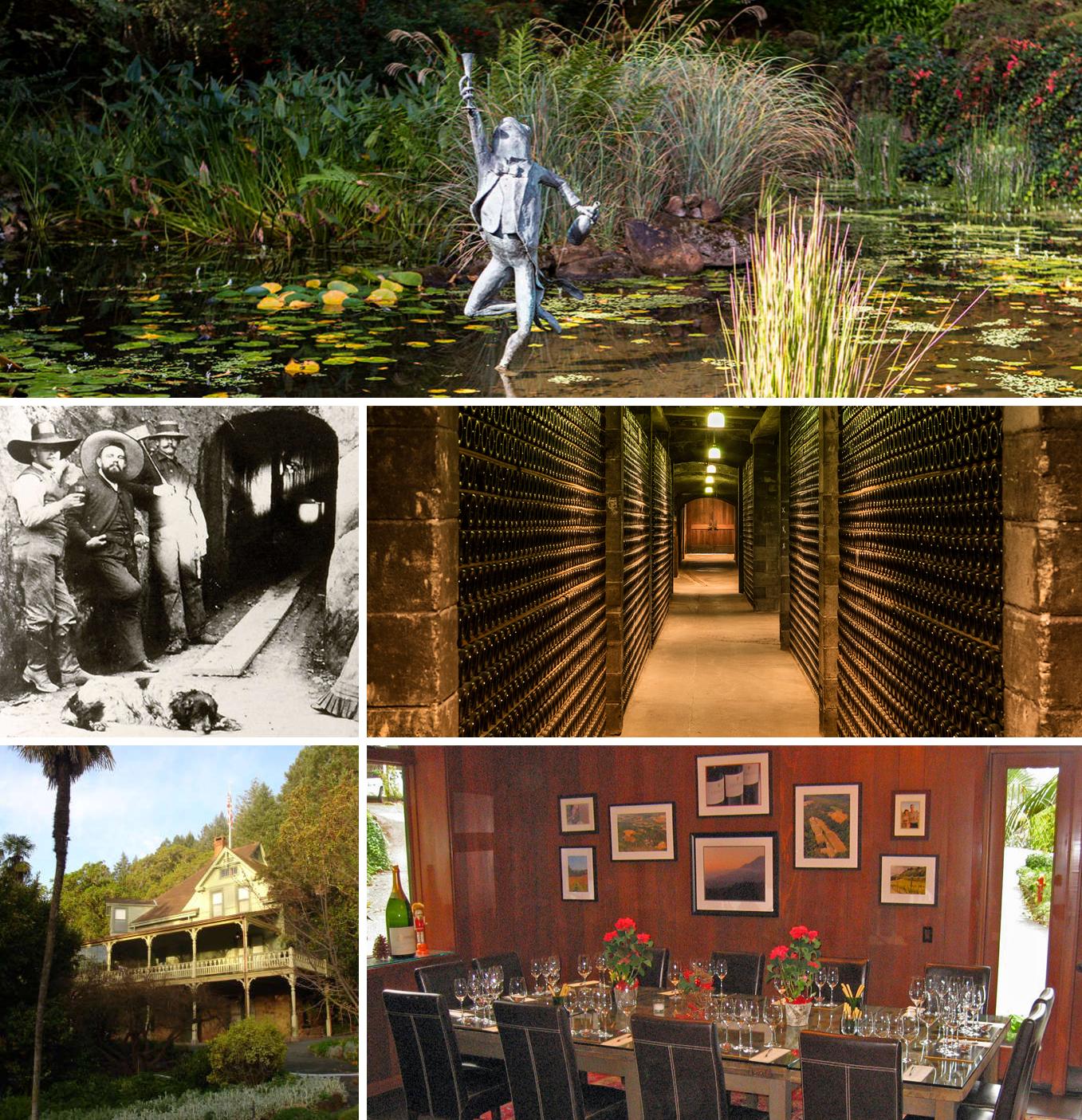 Schramsberg frog pond,caves1,caves2,Historic Schramsberg House,Schramsberg tasting room