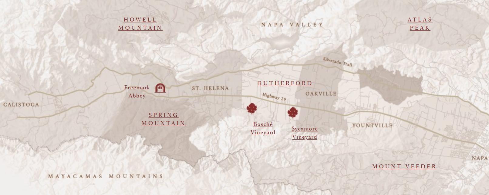 Freemark Abbey Vineyard Map