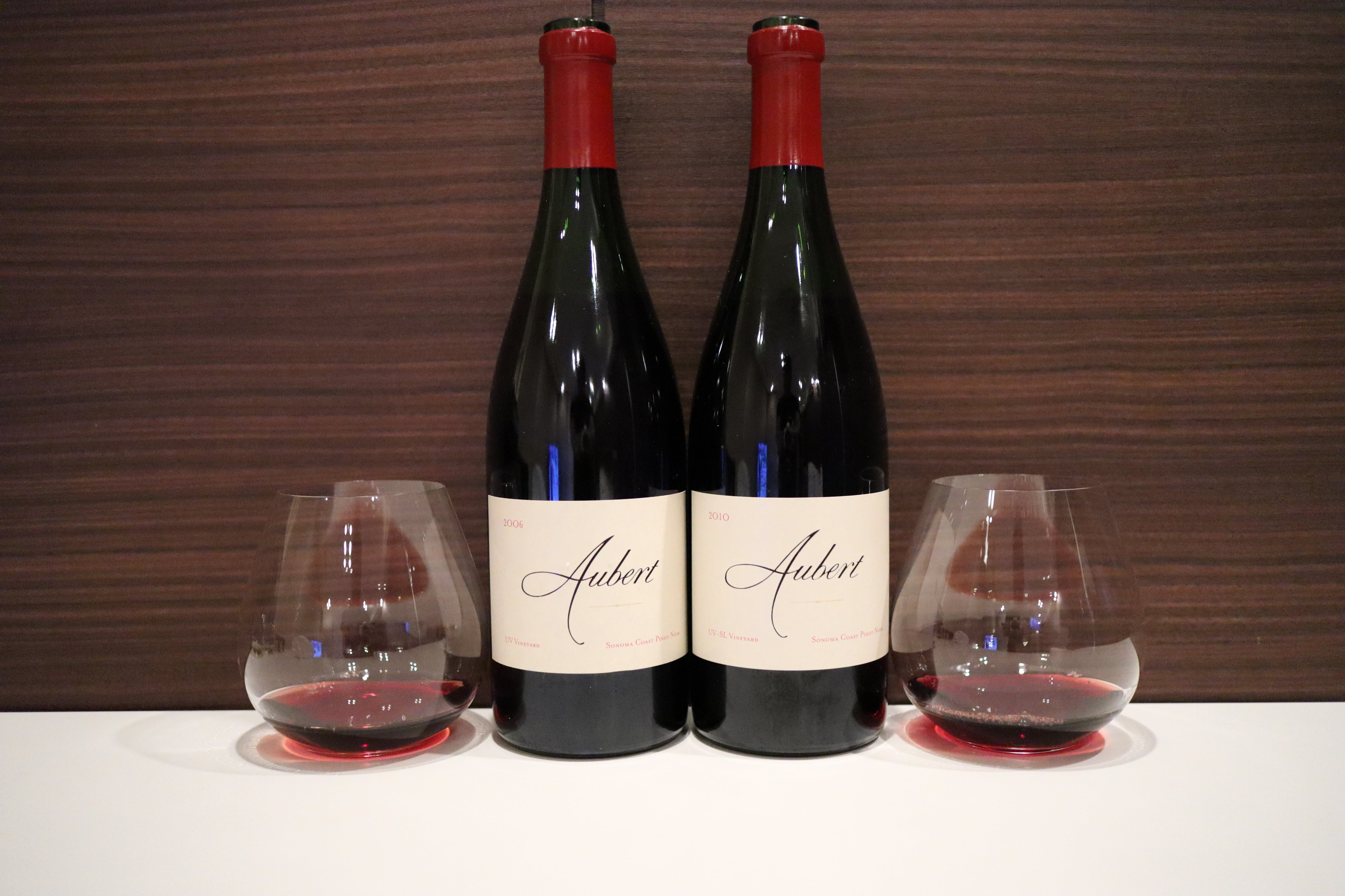 Aubert Vineyards Pinot Noir UV Vineyard 2006 vs UV-SL Vineyard 2010