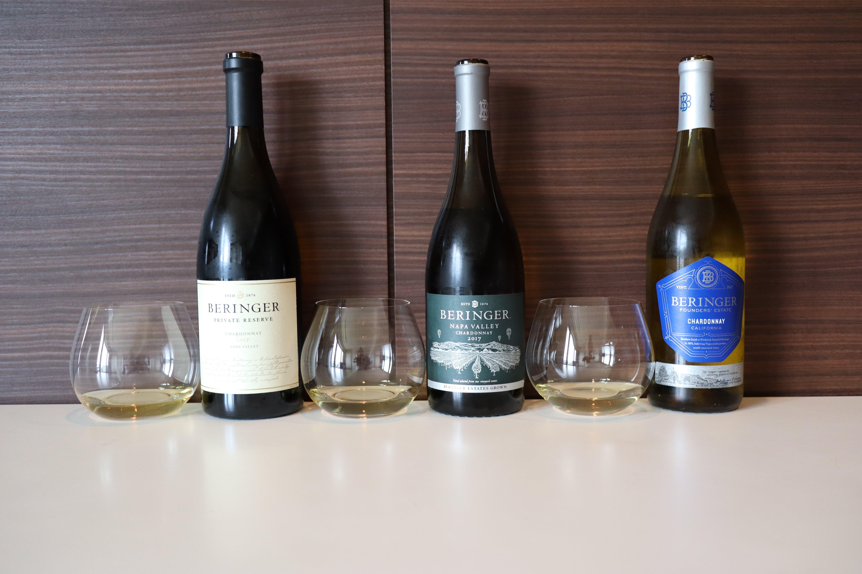 Beringer Chardonnay Private Reserve 2017 vs Napa Valley 2017 vs Fouder's Estate 2017