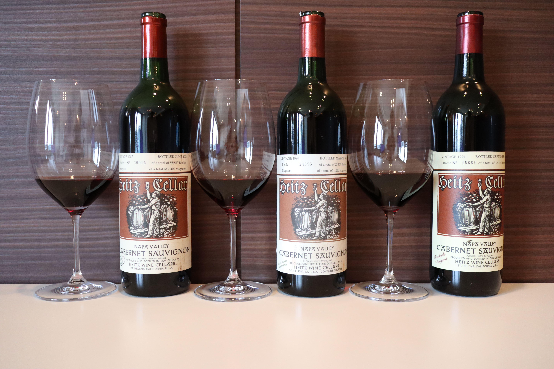 Heitz Cellar Martha's Vineyard 1987 vs Bella Oaks Vineyard 1984 vs Trailside Vineyard 1991