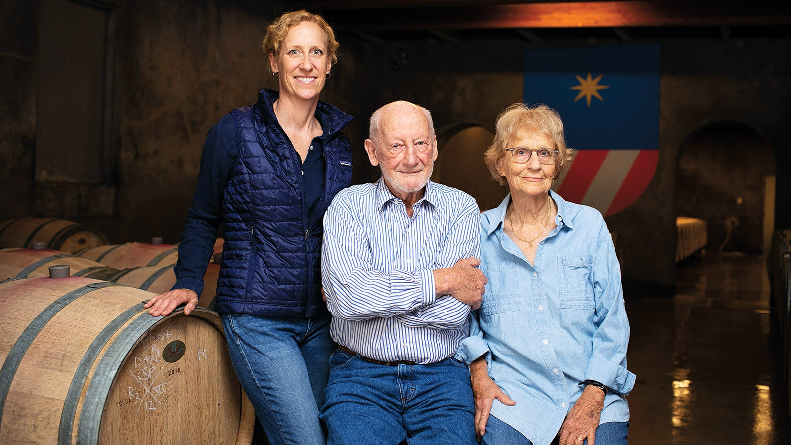 Philip Togni with his daughter Lisa and wife Birgitta