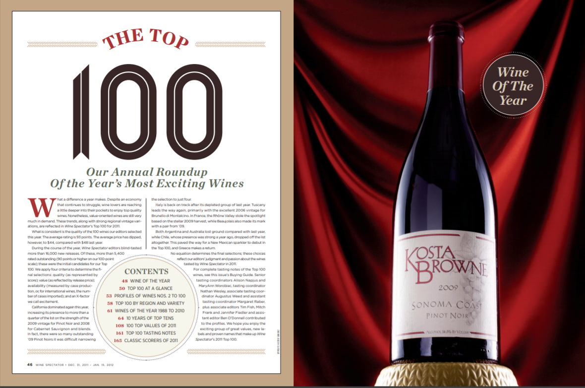 wine of the year 2011