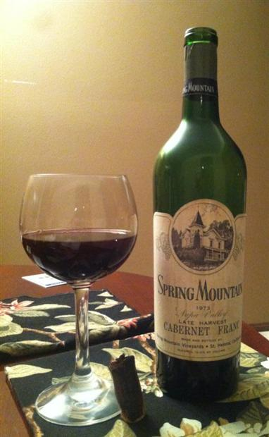 Spring Mountain Vineyard Chardonnay 1973