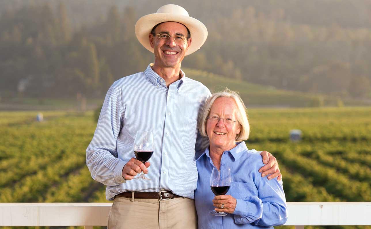 William Martin and Cathy Corison